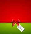 Karte mit Schleife - Merry Christmas