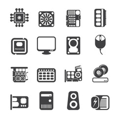 Silhouette Computer  Performance and Equipment Icons