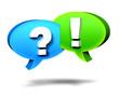 Sprechblasen Fragen Antworten QA