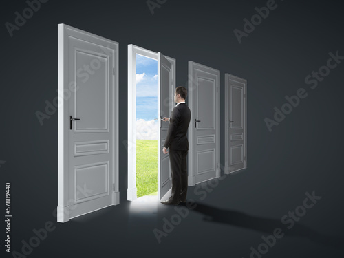 door to field