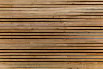 Wood stripes facade building decor