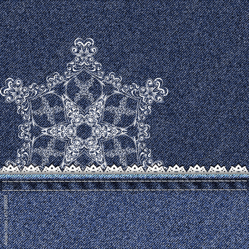 denim lace snowflake