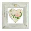 shabby frame with heart