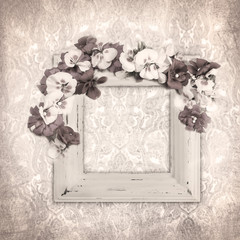 Vintage background with flowers for congratulations