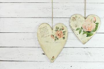 two hearts made by decoupage