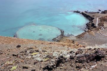 Cratere di Vulcano sommerso, Isola Bartolome, Galapagos, Ecuador