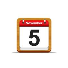 November 5.