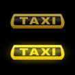 leuchtschild taxi III