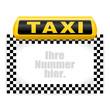 leuchtschild taxi VI