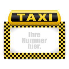 leuchtschild taxi VII