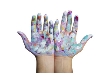 Mani dipinte colorate
