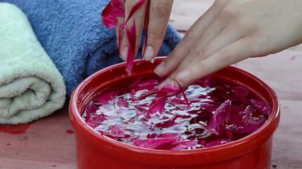 softener palms hands fingers procedure spa pleasures outdoors