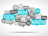 word cloud bubbles : social media marketing (cs5)