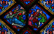 Nativity Scene at Christmas - Stained Glass