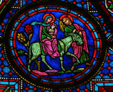 Holy Family at Christmas - Stained glass