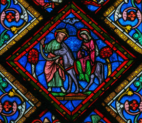 Holy Family - Nativity stained glass