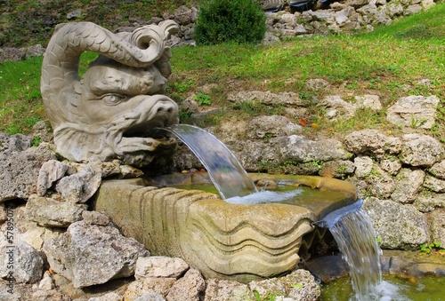 Leinwanddruck Bild Springbrunnen - fountain 04