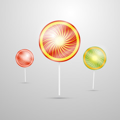 vector illustration of lollipops