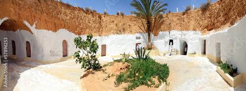 Fotobehang Tunesië Maison troglodyte à Matmata