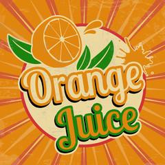Orange juice vintage poster