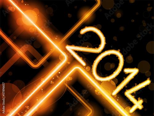 2014 Yellow Orange  Lines Background Neon Laser