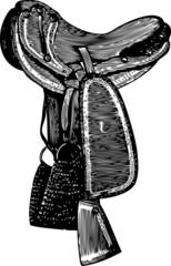 Saddle engraving