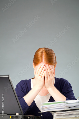 Woman under Stress at Work