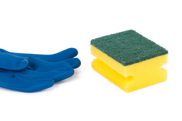 Glove and Sponge for Cleaning