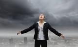 Businesswoman in despair