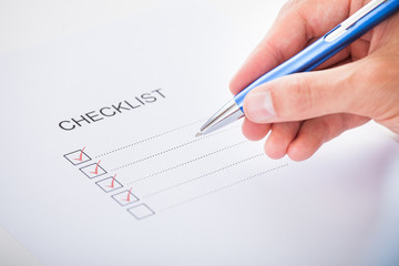 Hand Checking Checklist Box