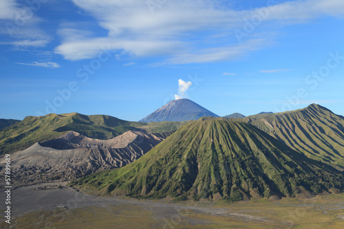 Bromo Volcano Mountain in Tengger Semeru National Park, East Jav