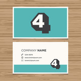 Business card with number 4.