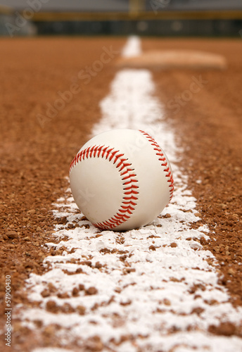 Baseball with third base beyond