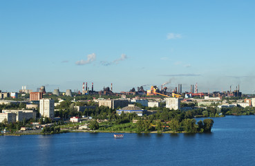 The city of Nizhny Tagil and metal works