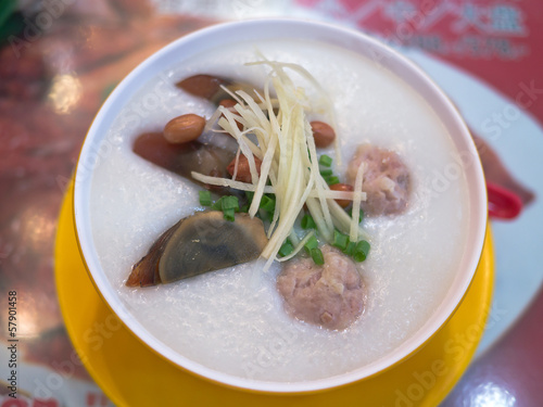 Porridge, century egg & pork Porridge (congee)