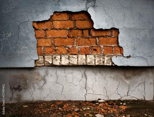 In de dag Old broken wall