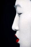 geisha in profile