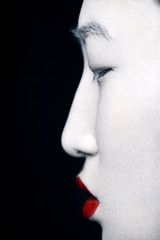 geisha in profile