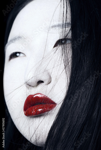 portrait of Asian girls