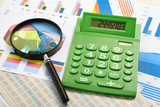 Green calculator and magnifier