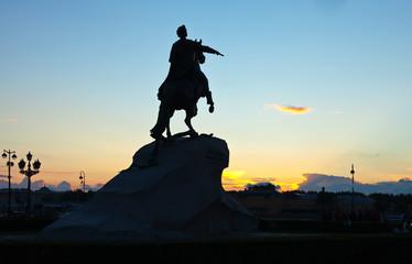 Bronze Horseman in St.Petersburg