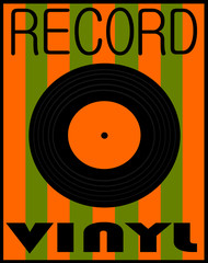 vintage vinyl record design