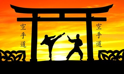 sunset karate five