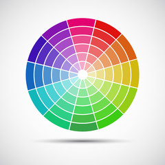 Color round palette on gray background, vector illustration