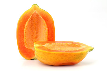 Papaya isolated on white background