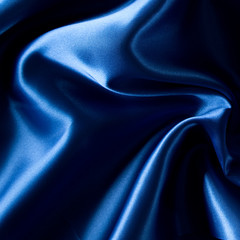 Blue luxury satin