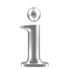 Aluminium font lorewcase letter i