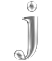 Aluminium font lorewcase letter j