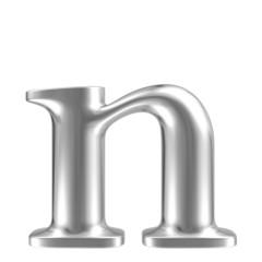 Aluminium font lorewcase letter n