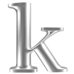 Aluminium font lorewcase letter k